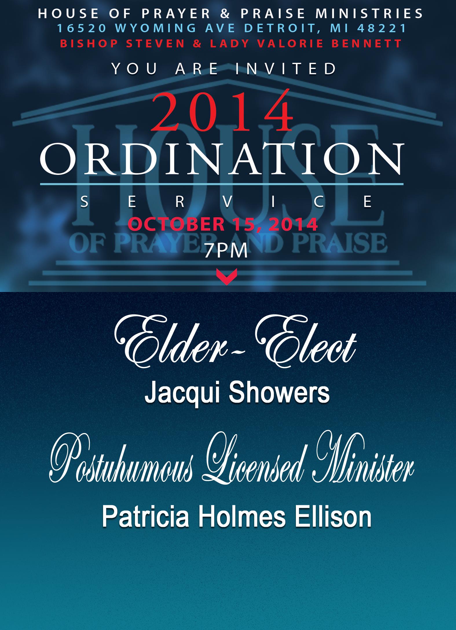 HOPP Ordination & Licensing Service: Elder-Elect Jacqui ...