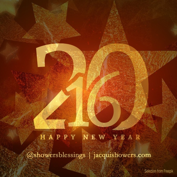 golden 2016 new year greeting