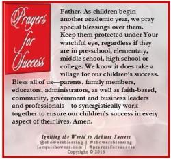 PRAYER FOR SUCCESS September 2 | Showers' Blessing Inspires