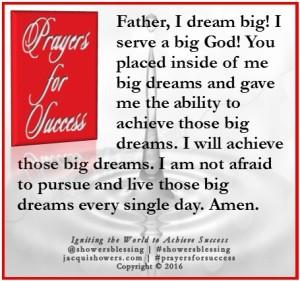 PRAYER FOR SUCCESS Jul 27 | Showers' Blessing Inspires