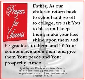 PRAYER FOR SUCCESS Sep 5 | Showers' Blessing Inspires