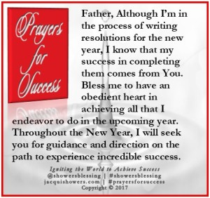 PRAYER FOR SUCCESS Dec 29 | Showers\' Blessing Inspires