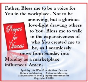 PRAYER FOR SUCCESS May 14 | Showers' Blessing Inspires